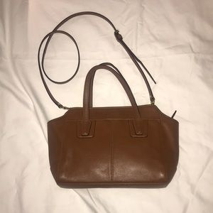 Coach brown leather satchel or hand bag